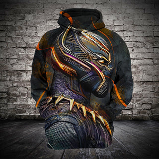 #B.054-Black Panther T'Challa 3D Hoodie - T-Shirt