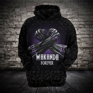 #B.064-Black Panther 3D Fullprinted Hoodie and T-Shirt