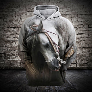 #007 3D printed Horse T-shirt and Hoodie