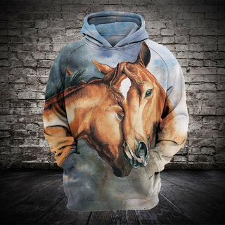 #018 3D Printed Horse T-shirt and Hoodie