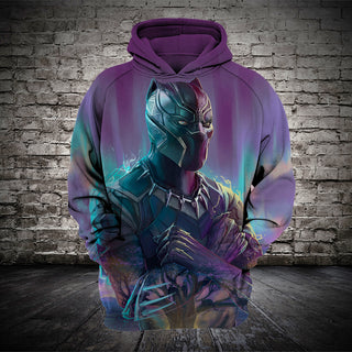 #B.059-Black Panther 3D Hoodie and T-Shirt