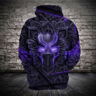 #B.058-Black Panther 3D Hoodie and T-Shirt