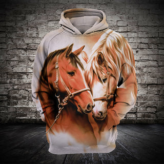 #011 3D printed Horse T-shirt and Hoodie