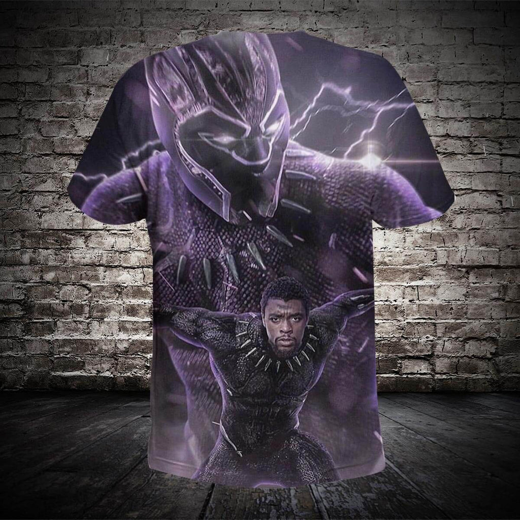 #B.055-Black Panther 3D Hoodie and T-Shirt