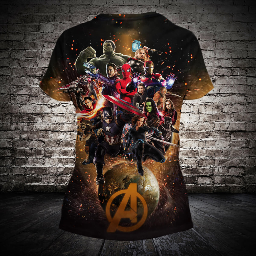 #B.063-Avengers: Infinity War 3D Hoodie and T-Shirt