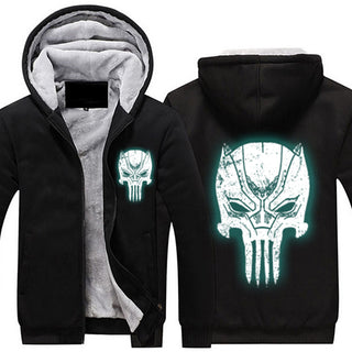 Black Panther Punisher Glow In Dark Jacket