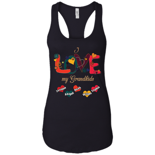 #003.Love My Grandkids Next Level Ladies Ideal Racerback Tank