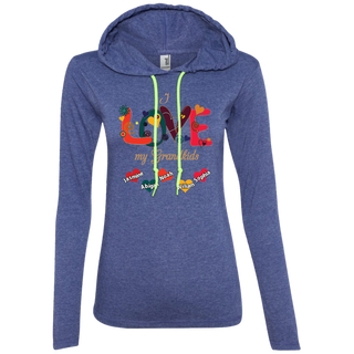 #004.Love My Grandkids  Anvil Ladies' LS T-Shirt Hoodie