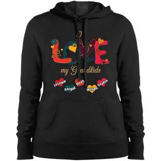 #005.Love My Grandkids Sport-Tek Ladies' Pullover Hooded Sweatshirt