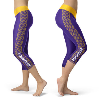 Minnesota Honeycomb Stripe Football Capris