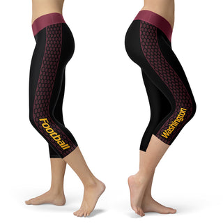 Washington Honeycomb Stripe Football Capris