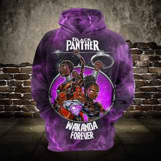 #B.062-Black Panther 3D Hoodie and T-Shirt