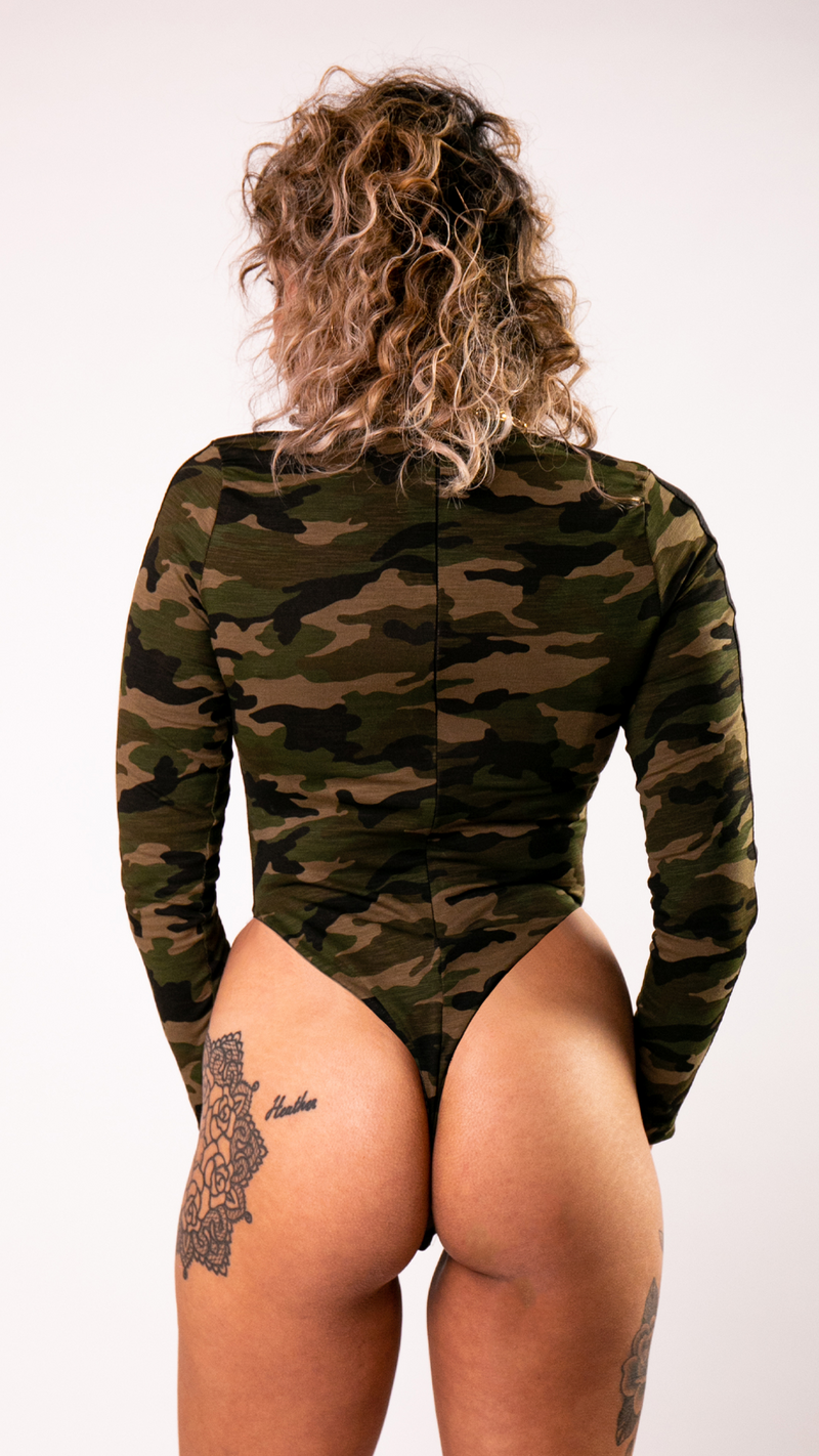 Camo Long Sleeve Bodysuit