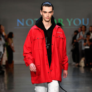 Red Woolen 3/4 Coat