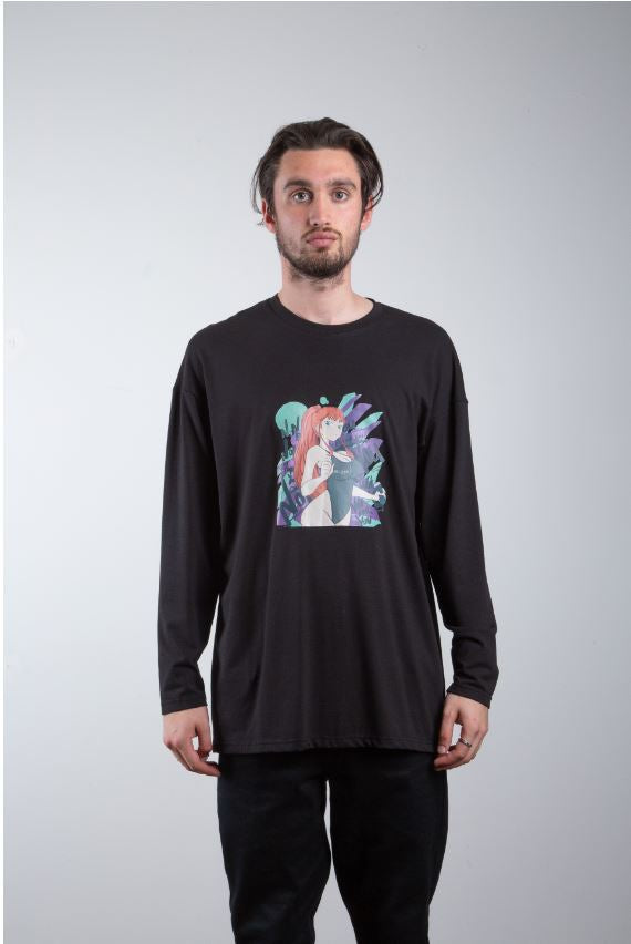 Anime Print Long Sleeve