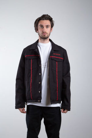 Black Hand Painted Bomber
