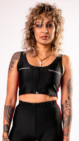 Black Painted Crop Top