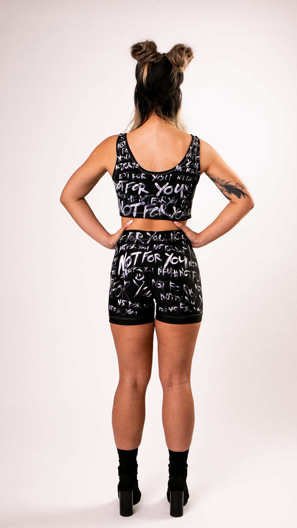Black Painted Biker Short