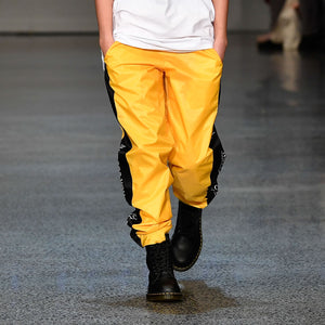 Yellow with Black Panels Trackpants