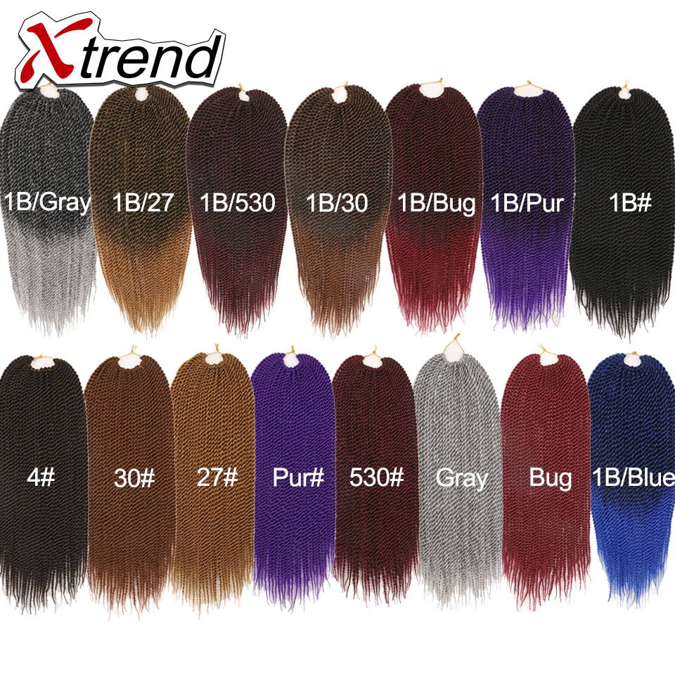Xtrend 30rootspack 18 Ombre Senegalese Twist Hair Synthetic Color H