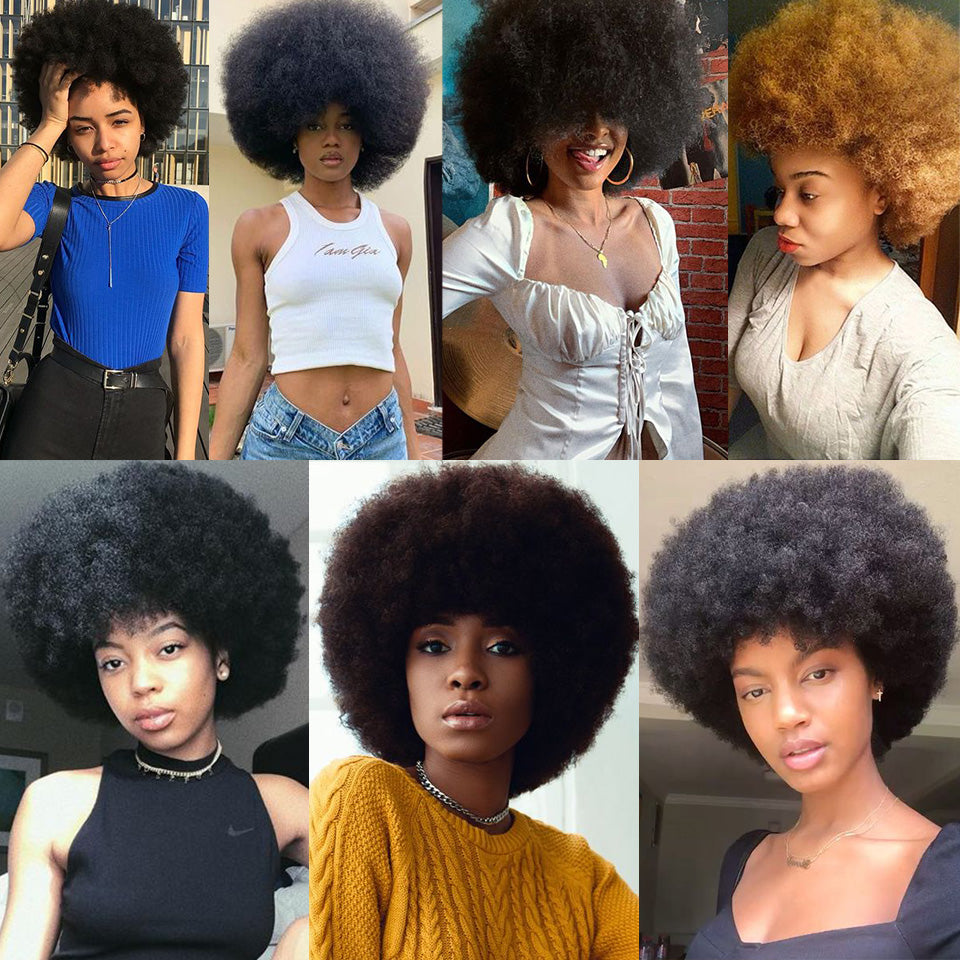 Afro Kinky Curly Wig Women Short Synthetic Hair 4inch For Party Wigs Xtrend Hair