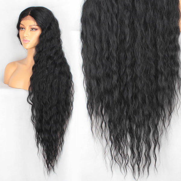 40inch Synthetic Wig Long Curly Lace Front Wigs Fashion