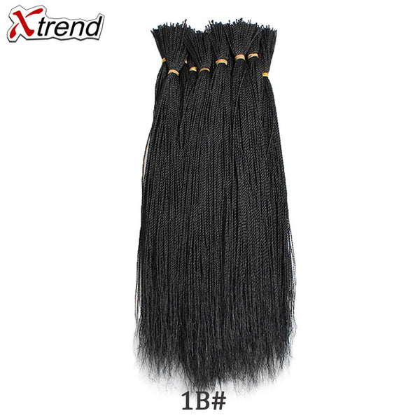 Xtrend Micro Senegalese Twist Crochet Braids Hair For Wig 22 Inch 100s