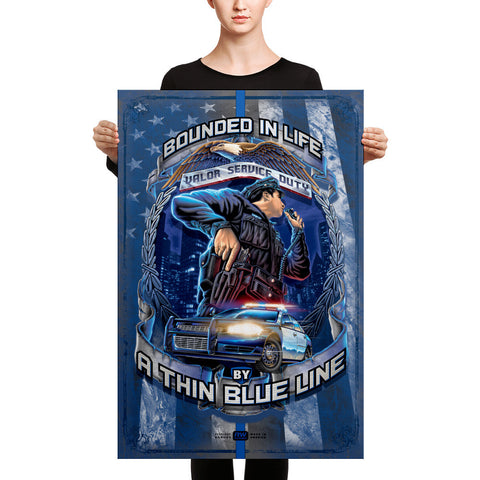 Law Enforcement Canvas Print size 24 x 36 inches