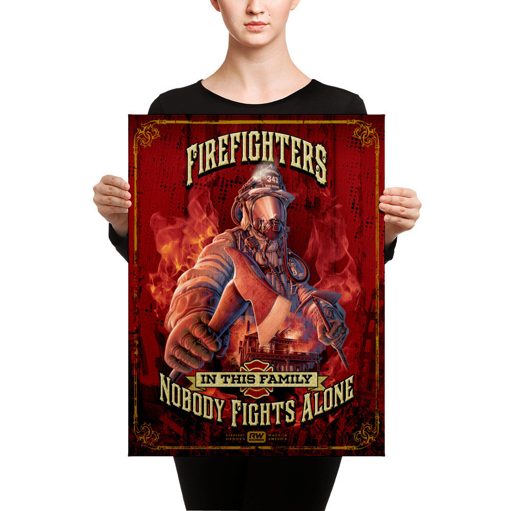 Firefighter Canvas Prints