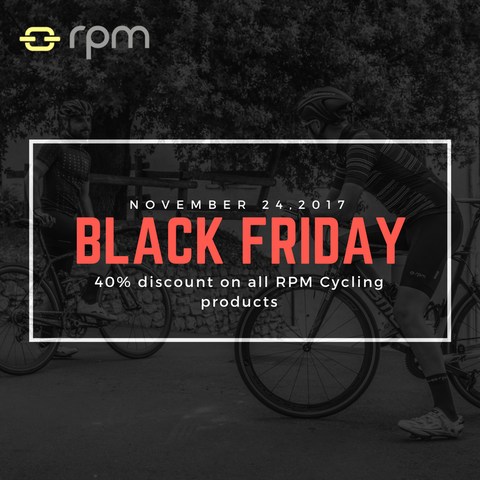 BLACK FRIDAY: 40% discount on all RPM Cycling products