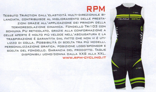RPM: in January 2015 featured in two Italian trade Magazines