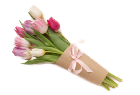 Tulip bouquet wrapping