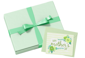 Green Wrapping, Ribbon and Card