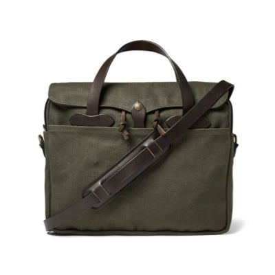 Leather Twill Briefcase