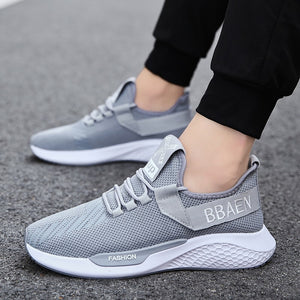 QZHSMY Brand Shose Men Flyknit Sneakers Man New Fashion Off White Breathable Black Sports Shoe Autumn Zapatillas Hombre Walking