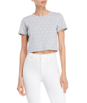 Heart Print Crop Top