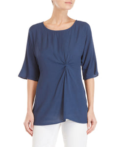 Woven Twist Front Top