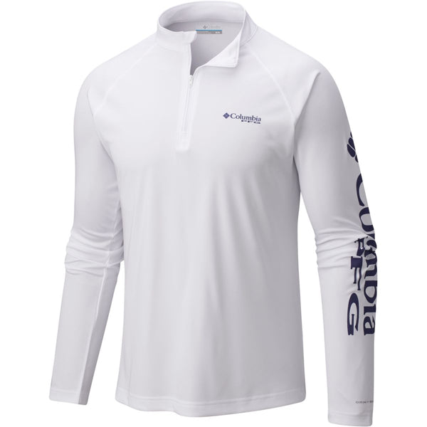 White Quarter-Zip Shirt