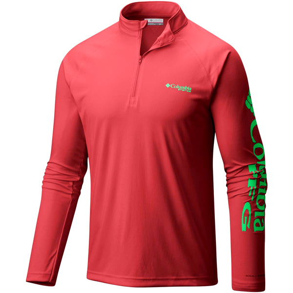 Red Quarter-Zip Shirt