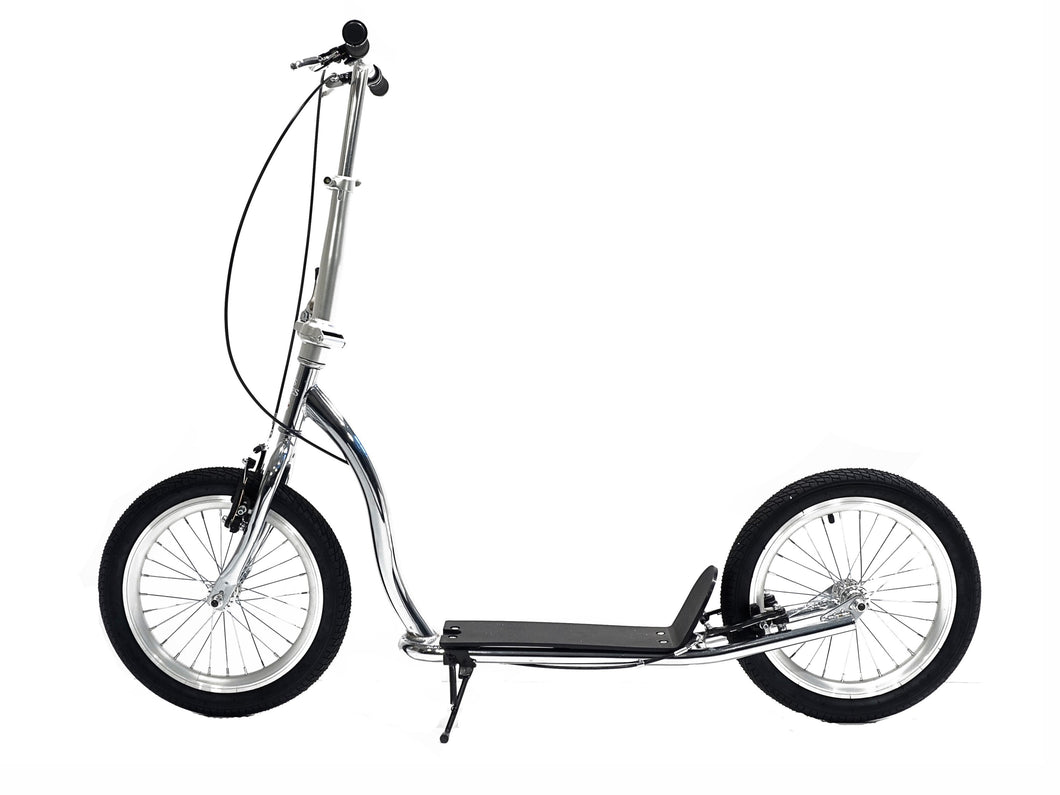 Americana Chrome - Chrome Adult Scooter With 16 Inch Silver Wheels