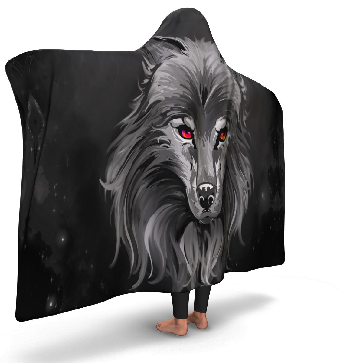 Dusk Wolf Hooded Blanket