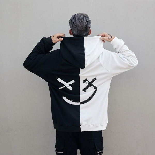 Faded Hoodie (Black & White)