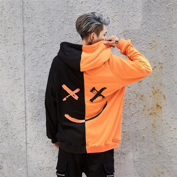 Faded Hoodie (Black & Orange)