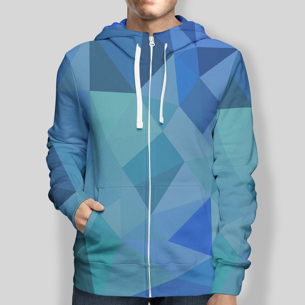 Abstract Zip-Up Hoodie
