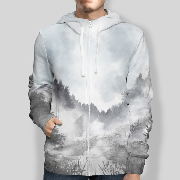 Misty Forest Zip-Up Hoodie