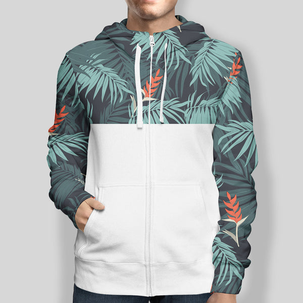 Tropical Zip-Up Hoodie