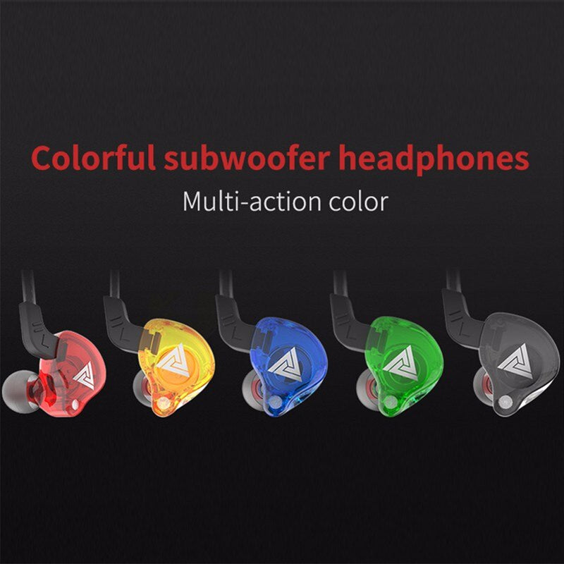 QKZ AK6 Two-Channel Stereo High-Definition In-Ear Subwoofer Dynamic Earphones Built-in Microphone