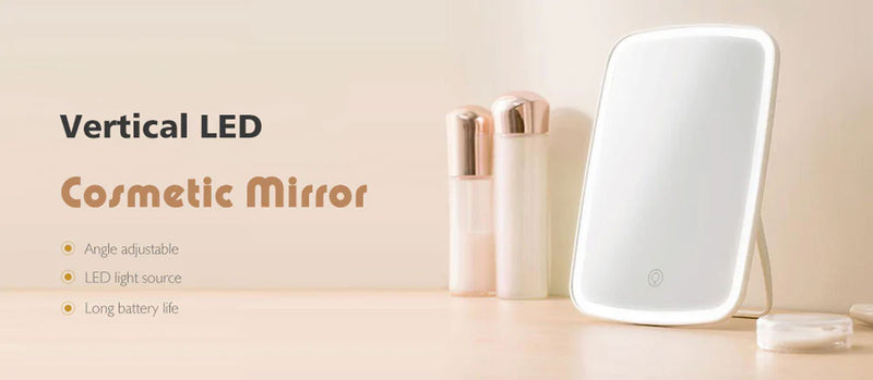 Xiaomi Mijia Jordan & Judy Portable Folding Makeup Mirror Touch Control LED Rechargeable Lighting Cosmetic High-Definition Mirror Face