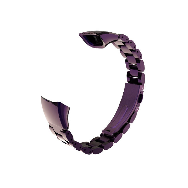 Mijobs Metal Strap for Honor Band 5 and 4 NFC Purple