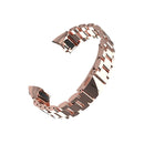 Mijobs Metal Strap for Honor Band 5 and 4 NFC Rose Gold